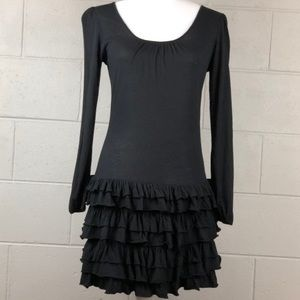S) EXPRESS Ruffled Bottom Dress